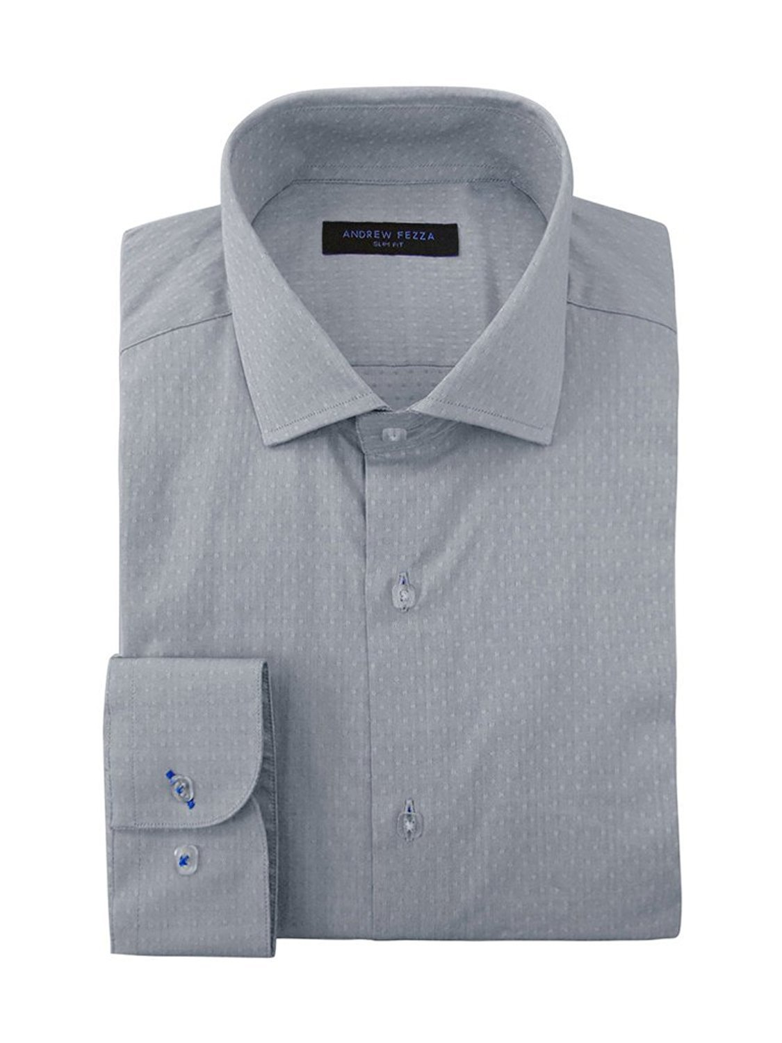 Andrew Fezza Men/'s Slim Fit Dress Shirt Available in Many Paterns and Colors