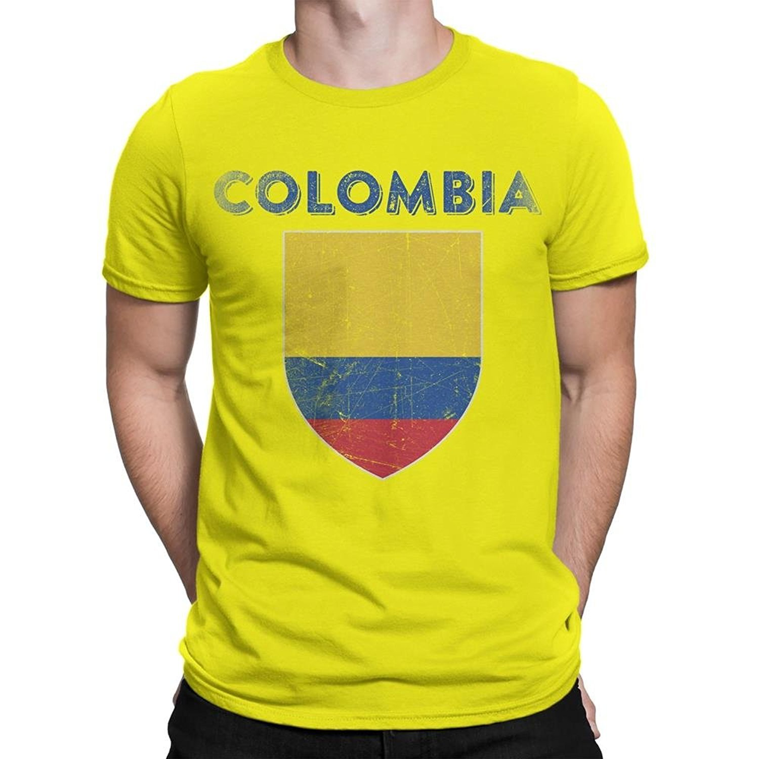 Nyc Factory Colombia Flag Tee T-Shirt Mens Unisex Vintage Retro Ii colombia-fla