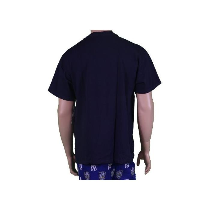 Nypd Nypd Tee Navy Blue Yellow Print Short Sleeve T-Shirt Nypd