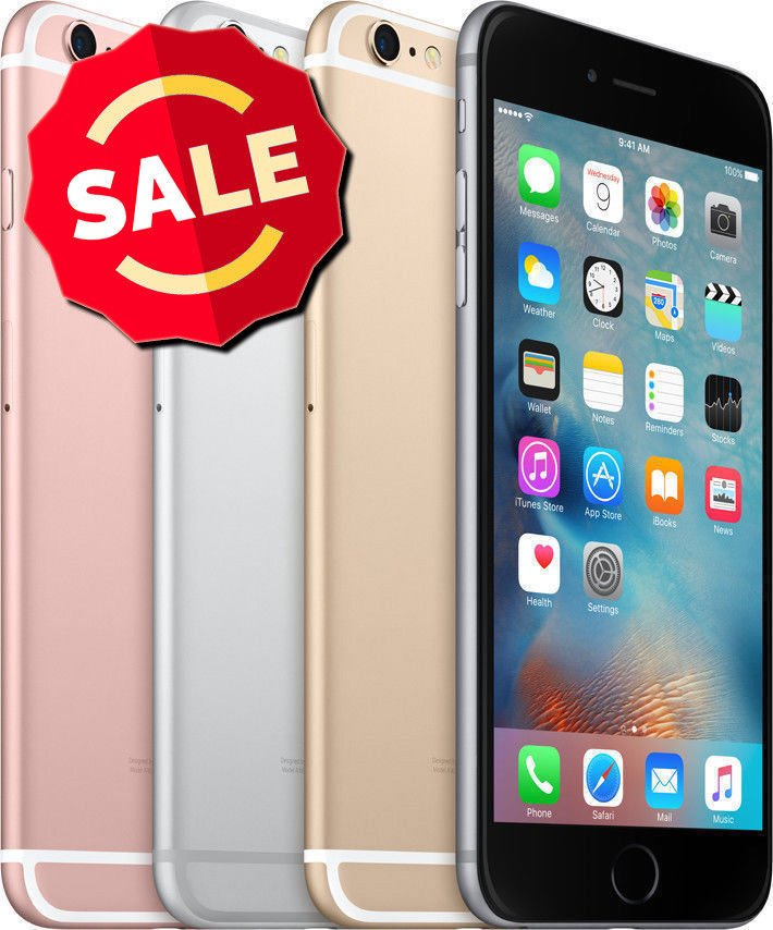 Apple iPhone 6 16GB 64GB 128GB Unlocked AT&T T-Mobile Verizon Gold Silver New