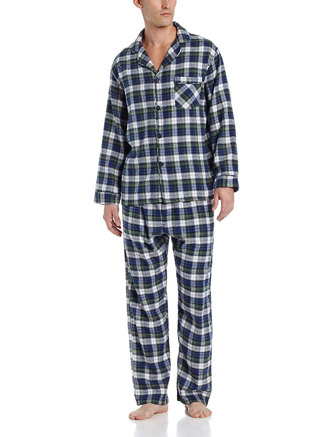 Hanes Men/'s Flannel Pajama Set