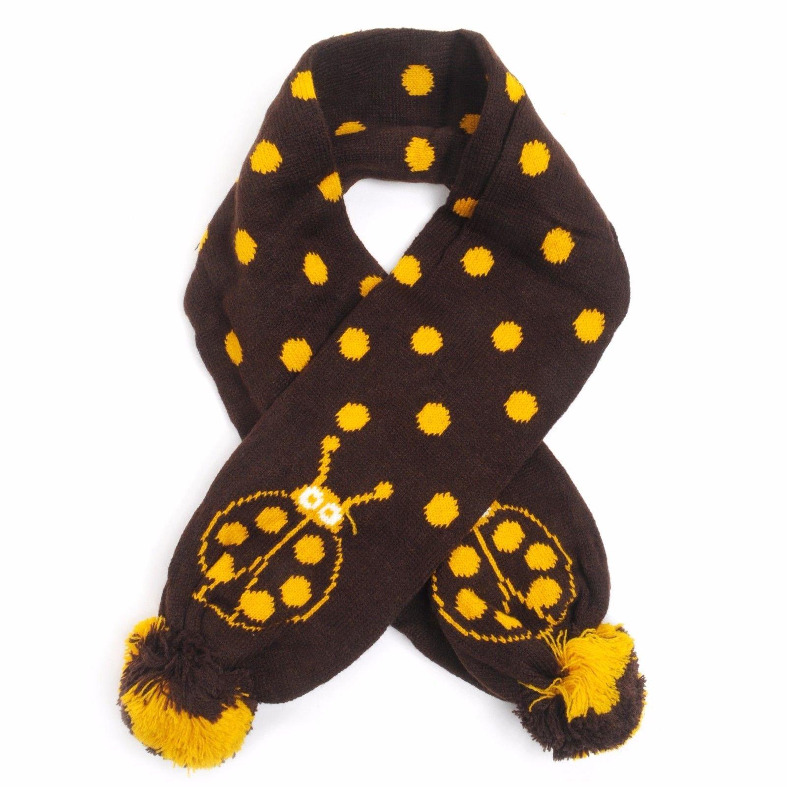KKWS1730 Kid's Ladybug Trapper Hat and Scarf Winter Set