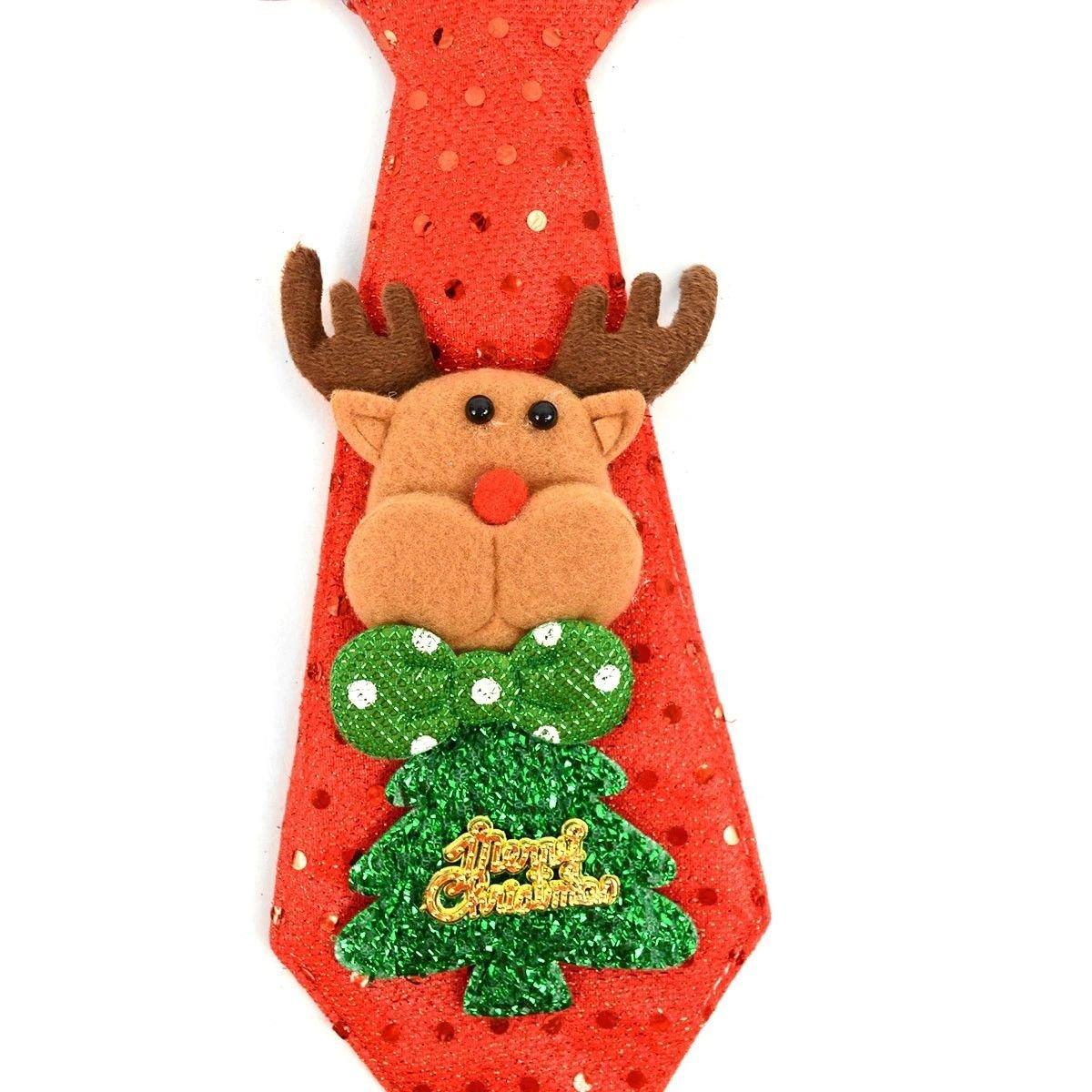 BG Holiday Christmas Light Up Neck Tie Festive Winter Accessory 5 Light Modes