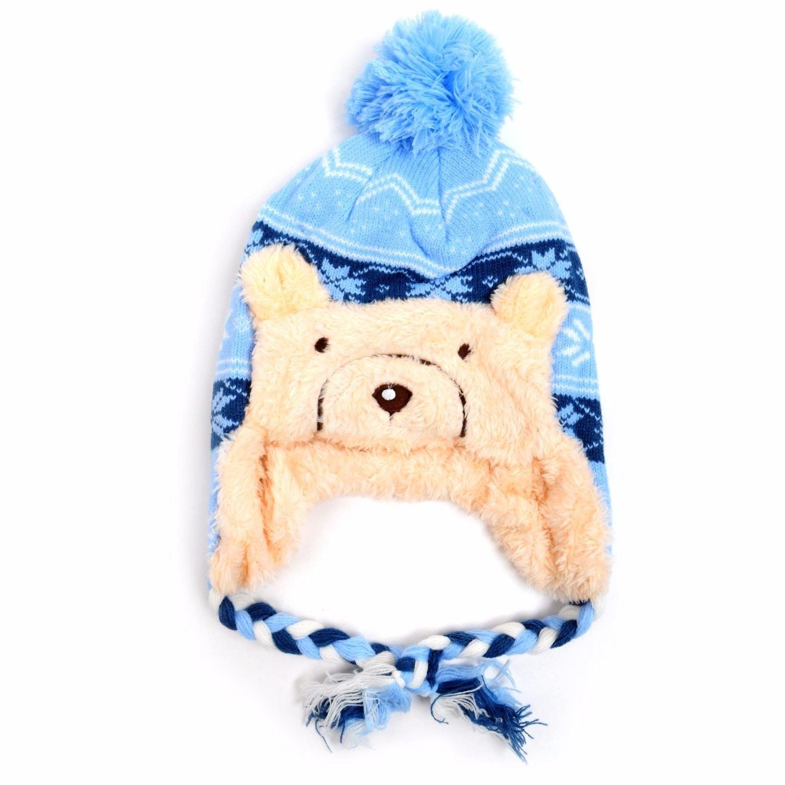 Kid's Scandinavian Bear Trapper Hat and Scarf Winter Set KKWS1731