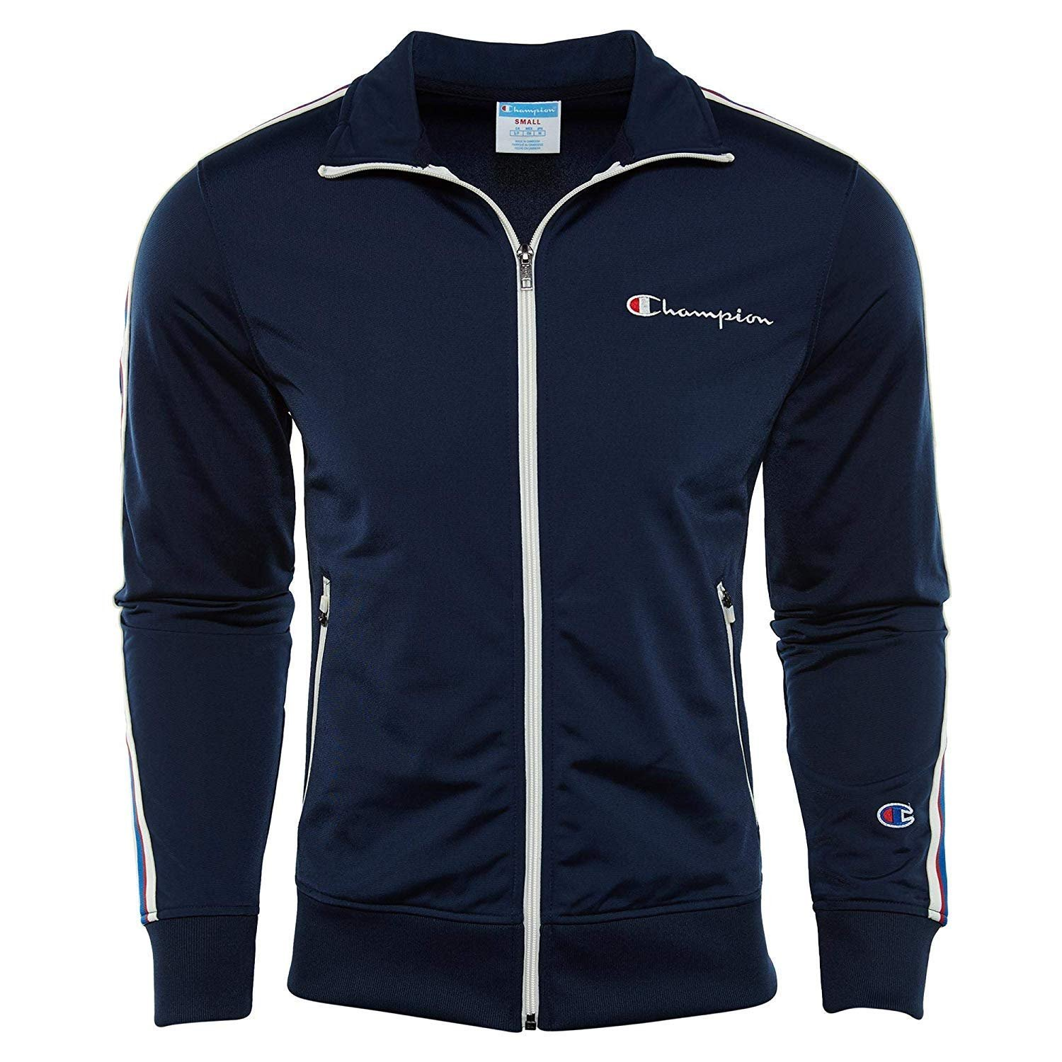 Champion Men/'s Track Jacket Embroidered Logo
