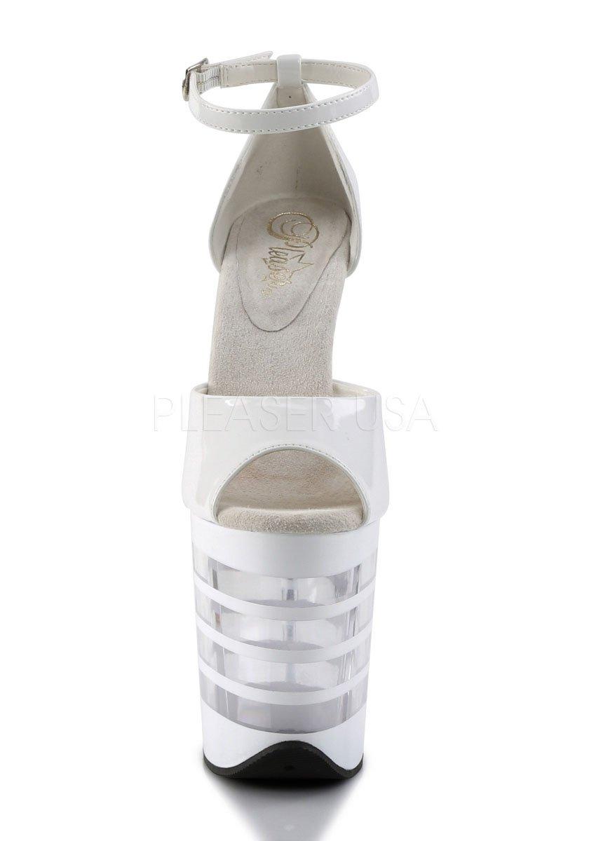 4 Inch Lined Platform Ankle Strap Close Back Sandal 8 Inch Heel