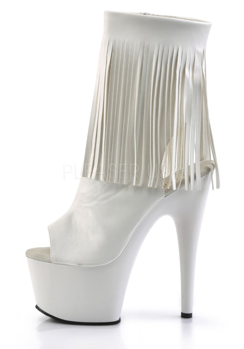 2 3//4 Inch Platform Open Toe//Back Ankle Boot Pleaser ADORE-1019 7 Inch Heel