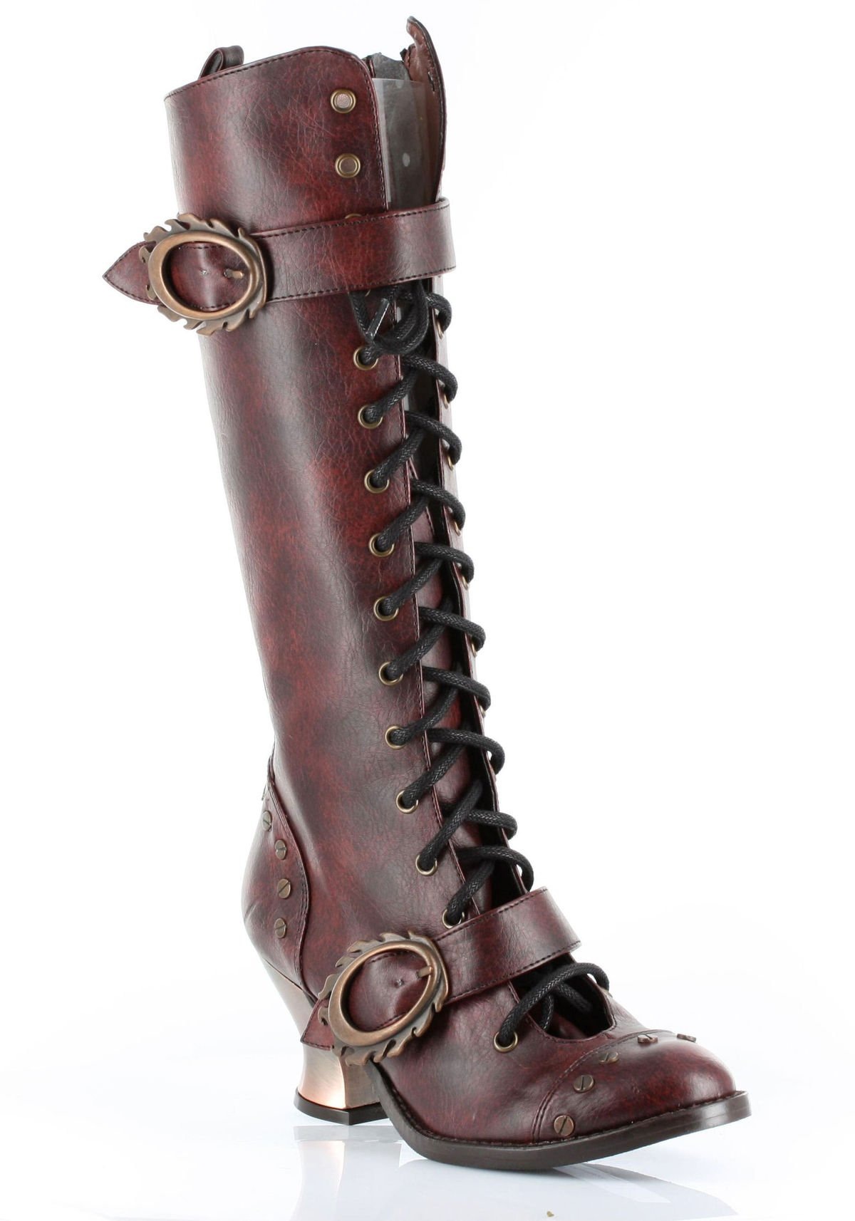 Hades VINTAGE Vintage?Knee High Boot With Retro Style Lacing