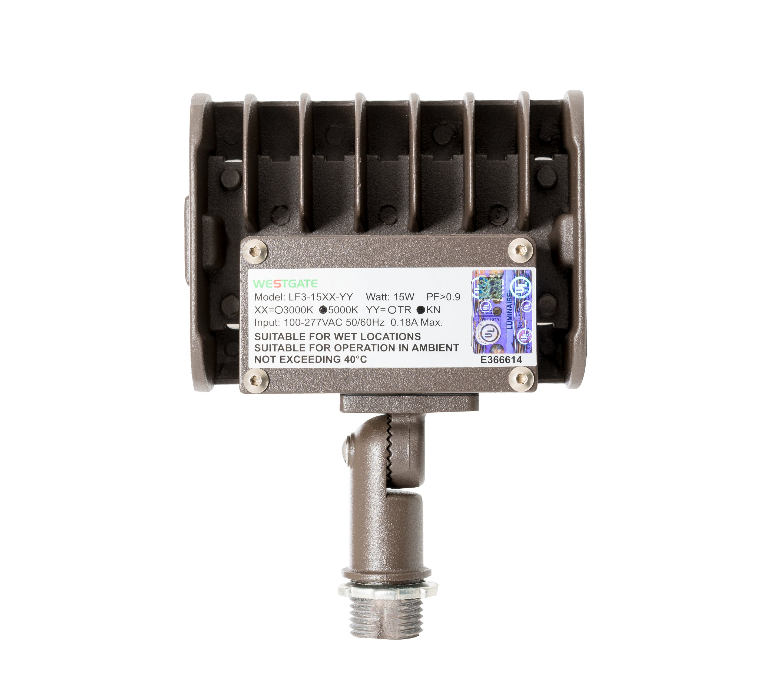 Westgate LED Outdoor Flood Light UL Knuckle Mount Security Light Fixture