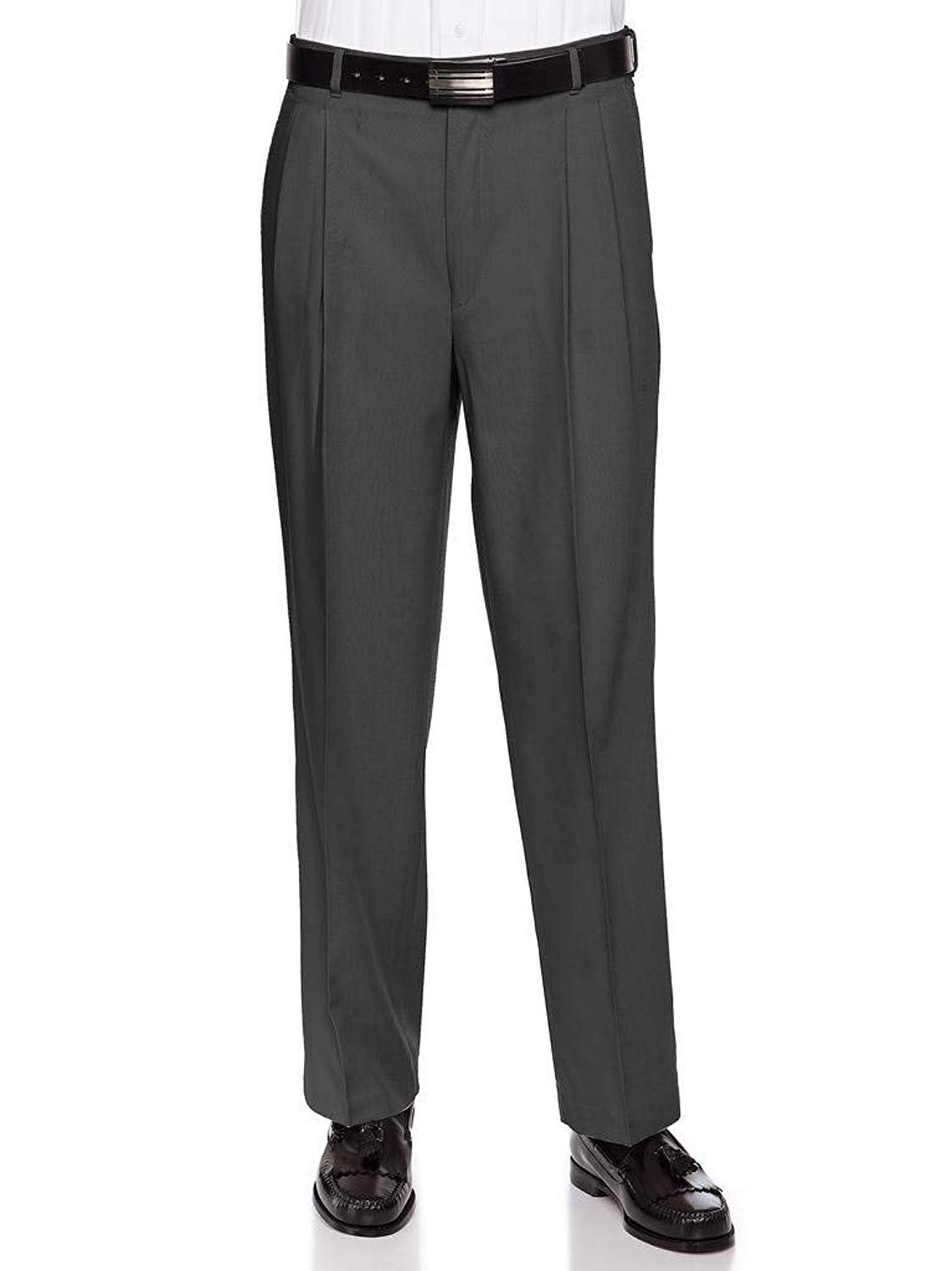 Mens Flat Front Poly Wool Dress Pant By RGM