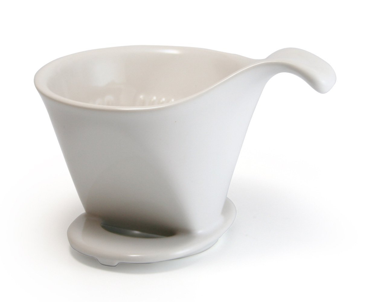 Bee House Ceramic Pour Over Coffee Maker Dripper - Large - Drip Cone -White eBay