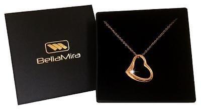 Oro Rosa Corazón Amor Colgante Collar de moda Glam Bling Joyas Para Mujeres Chicas