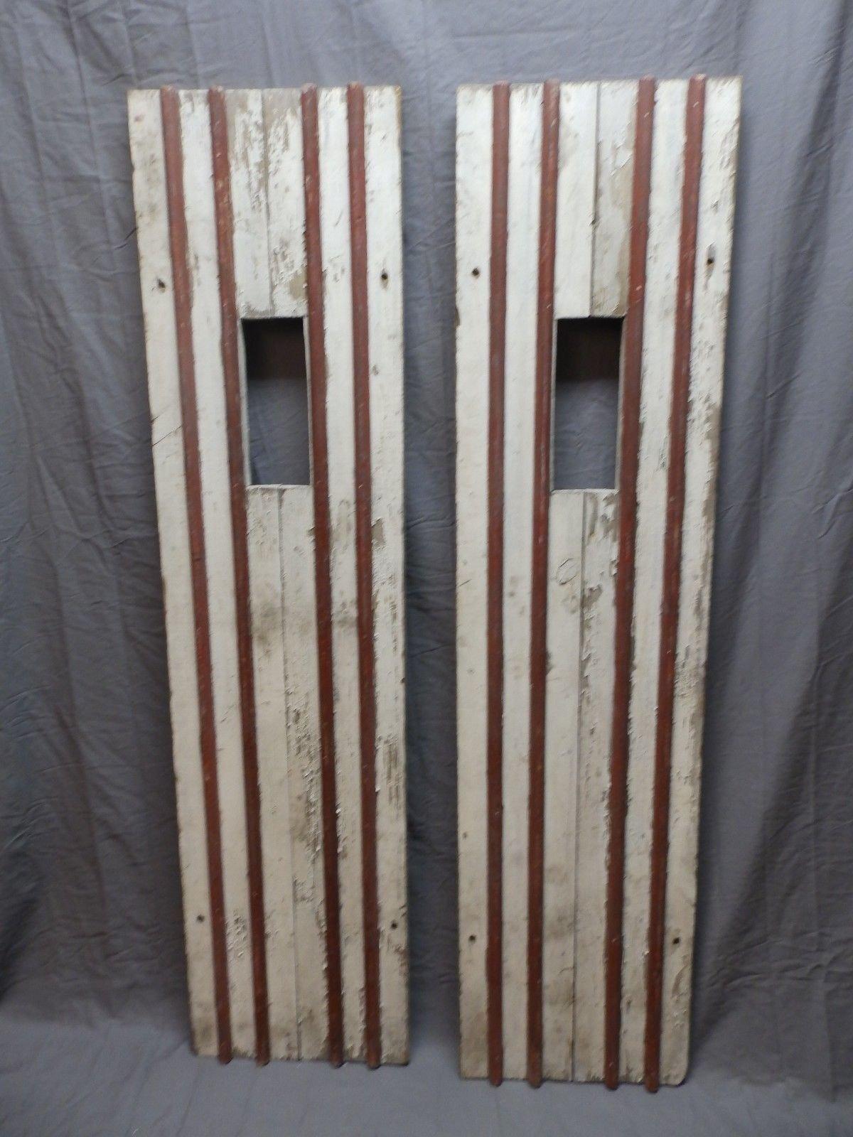 Details About Pair Antique House Window Wood Shutters 62x15 Adirondack Cabin Lodge Vtg 602 18p