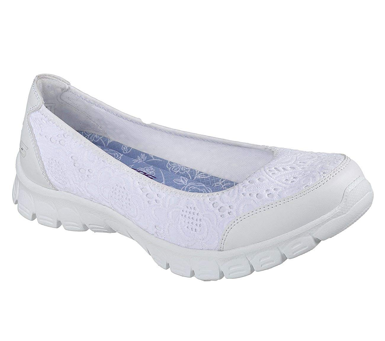 Skechers EZ Flex 3.0 Be You Womens Slip On Skimmer Sneakers White 9