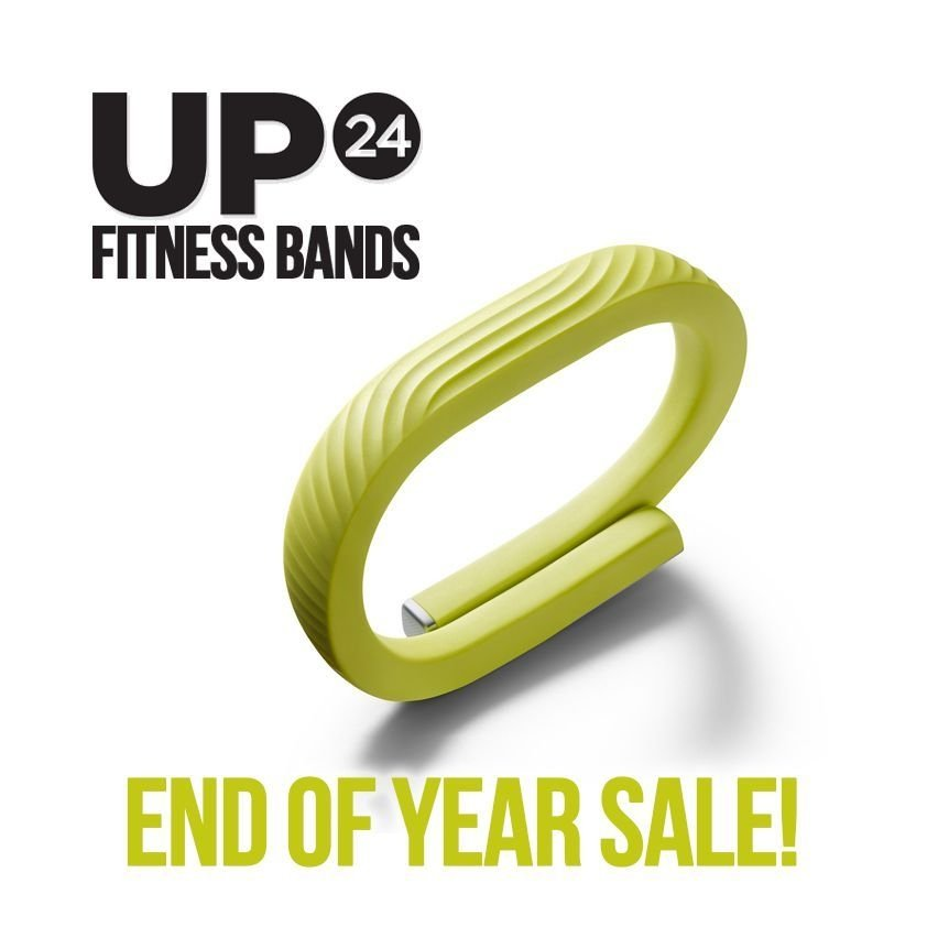 Jawbone Up24 Fitness Sleep Tracker Black Red Lime Small