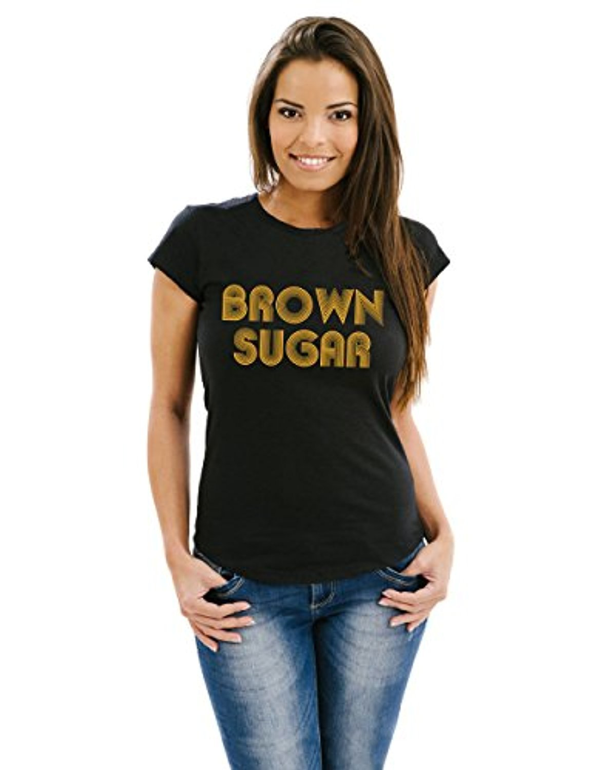 Ladies fitted tee brown sugar t shirt ebay for What is a fitted t shirt