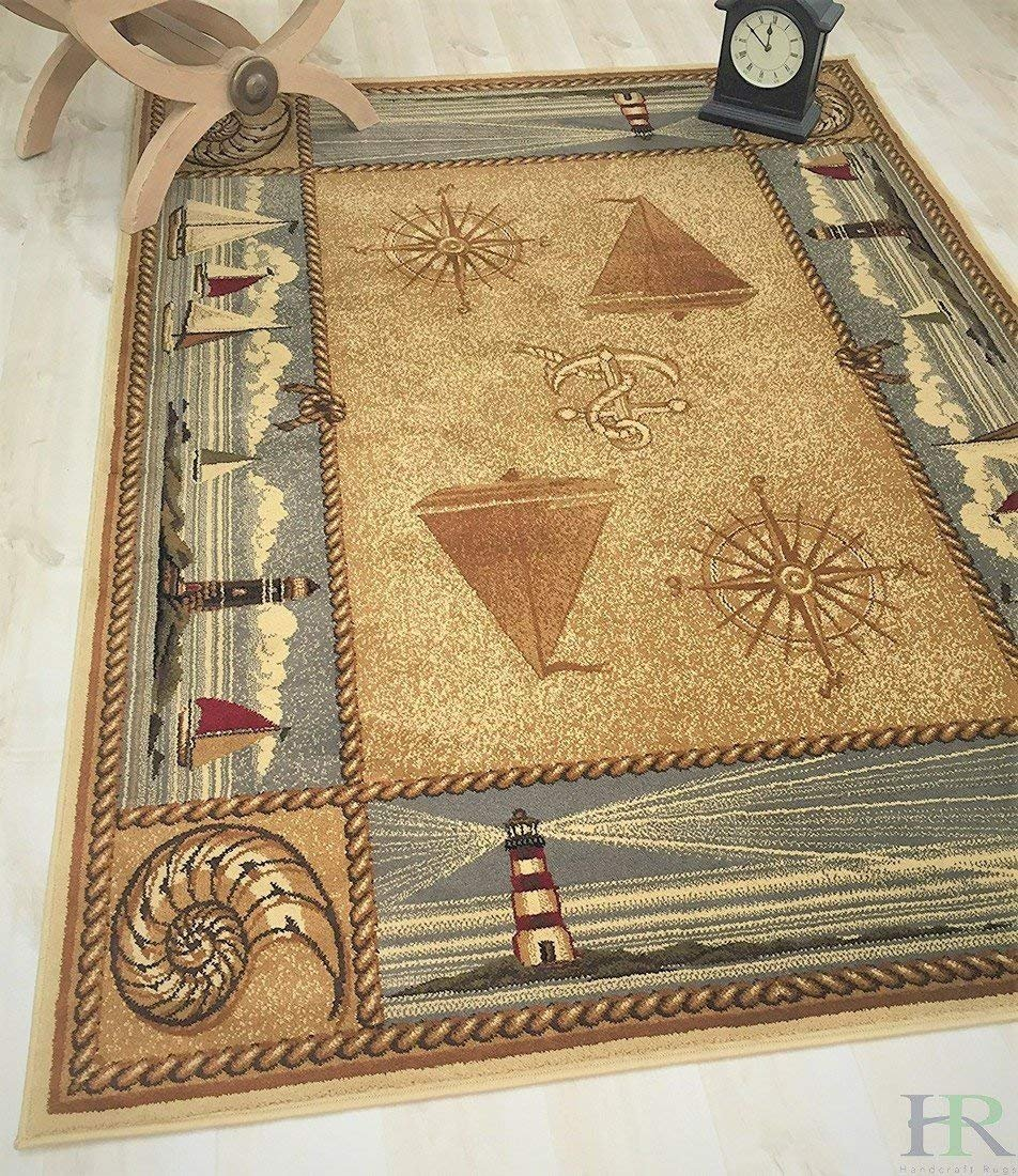 Lodge, Cabin Nature And Animals Area Rug