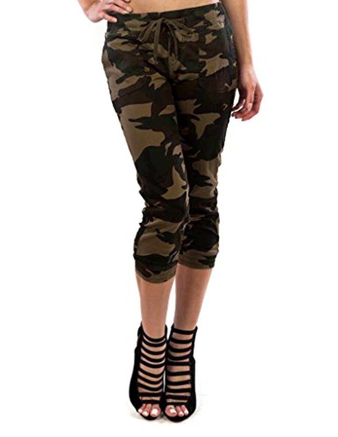 Creative Full Pants 2015 Women Casual Loose Jogger Cargo Pants Woman Army