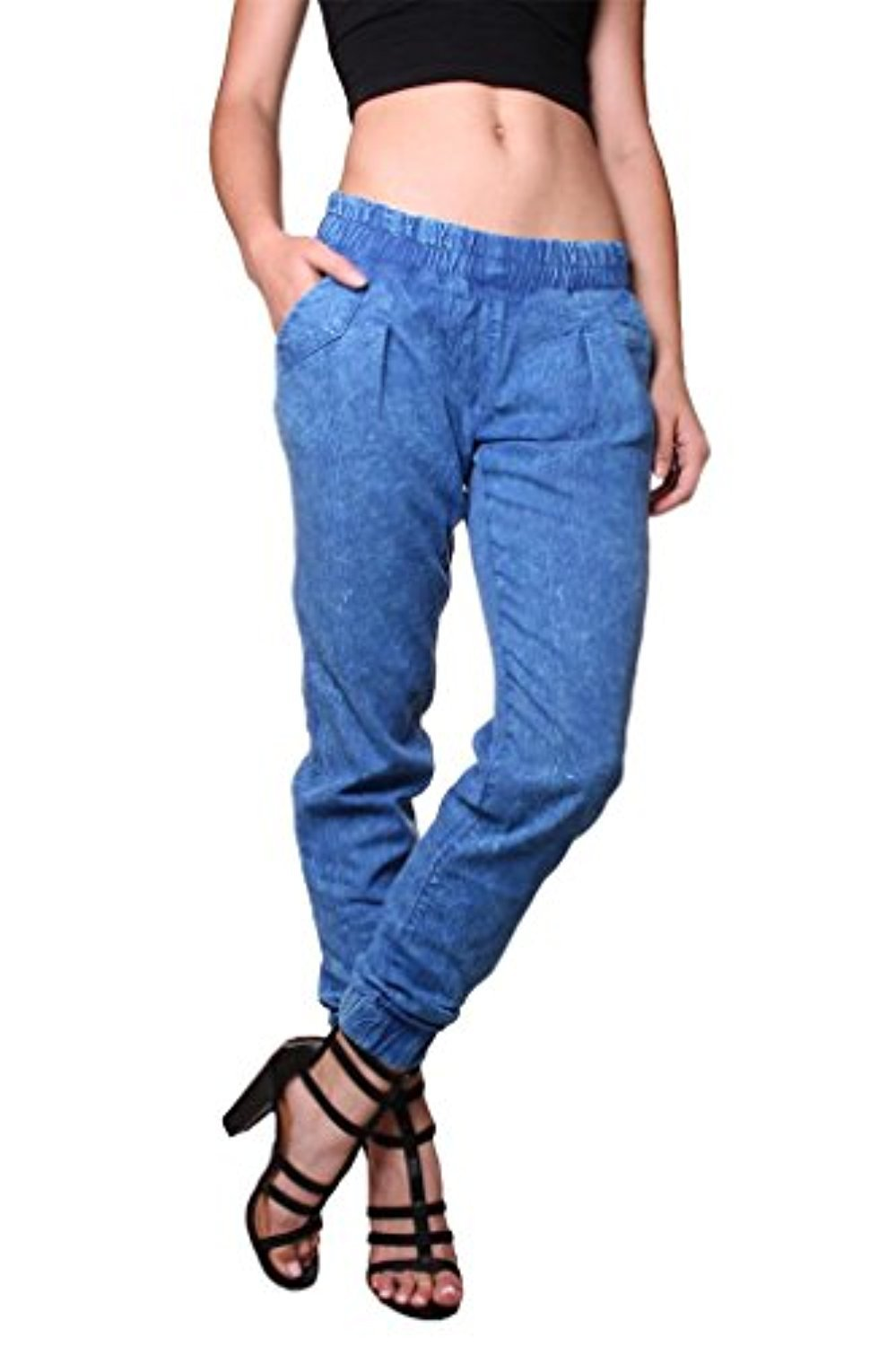 Going Fast! mens slim fit hipster stretch scrunch harem twill fashion joggers pants 1tpxl-timber for $ from Genx.