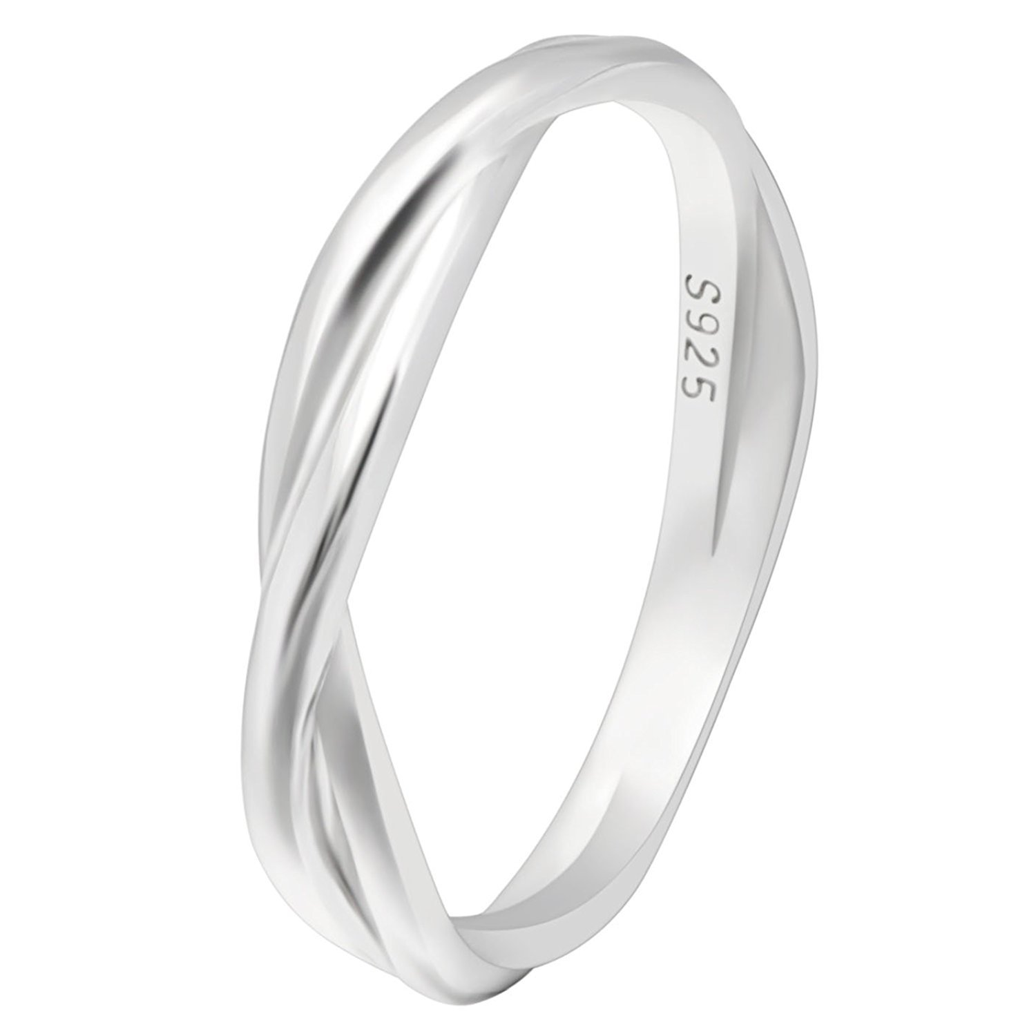 twist ringspotters pi ring three page band cut engagement wedding infinity radiant stone