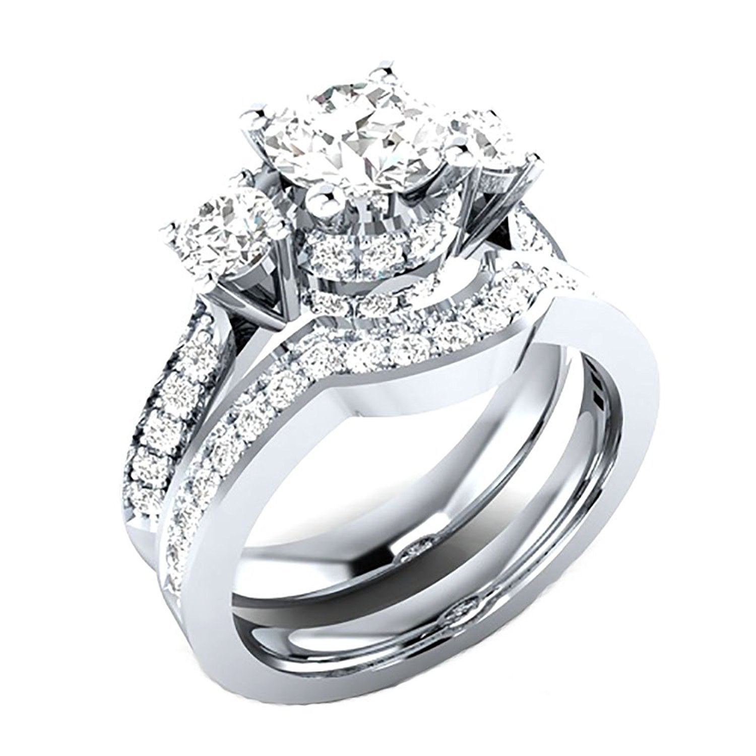 gallery jewelry matching wedding ring deb keezing s engagement diamond halo with rings band