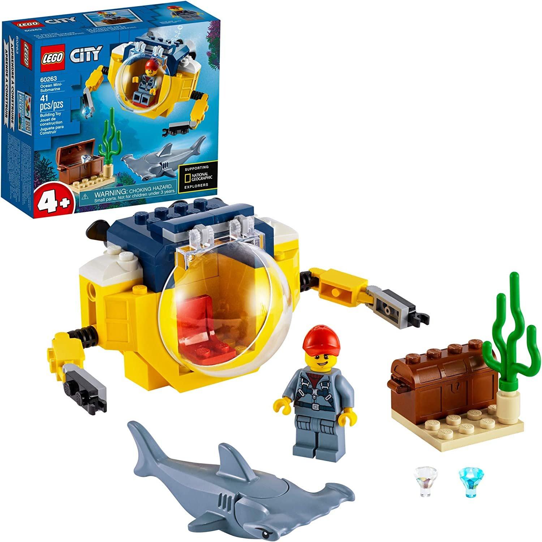 LEGO City Ocean Mini-Submarine 60263, Underwater Playset ...