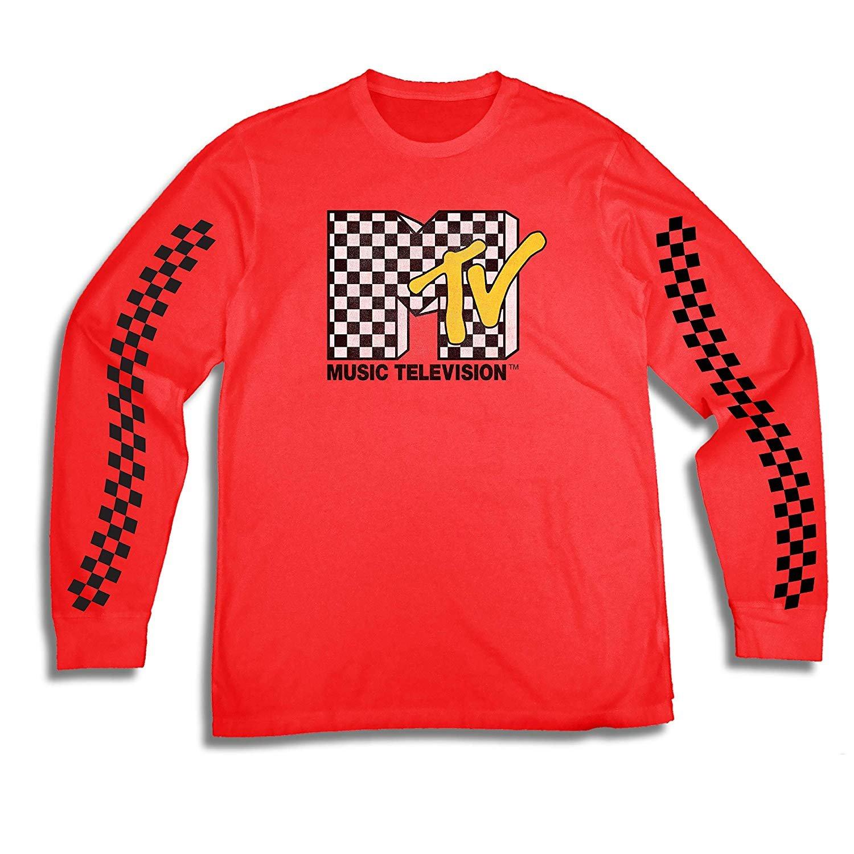 e13481c30 MTV Mens Long Sleeve Shirt - #TBT Mens 1980's Clothing - I Want My T ...