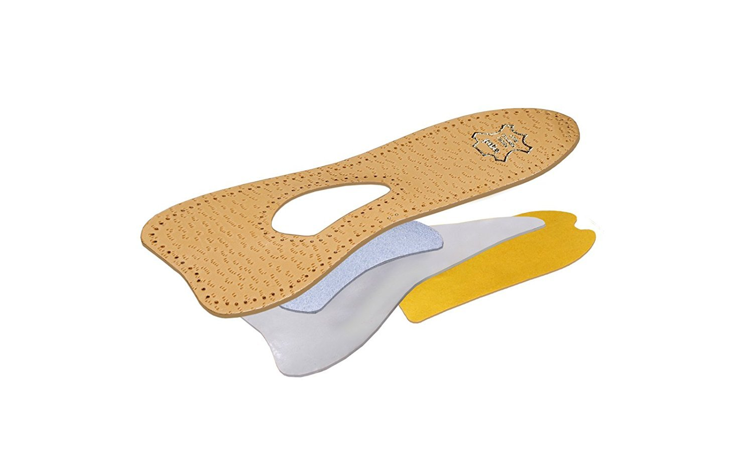 Orthotic 3/4 Leather Insoles for Pumps/heels with Arch Support, Kaps Ballet, All Sizes (Women / 7 US / 38 EUR / 5 UK) by Kaps