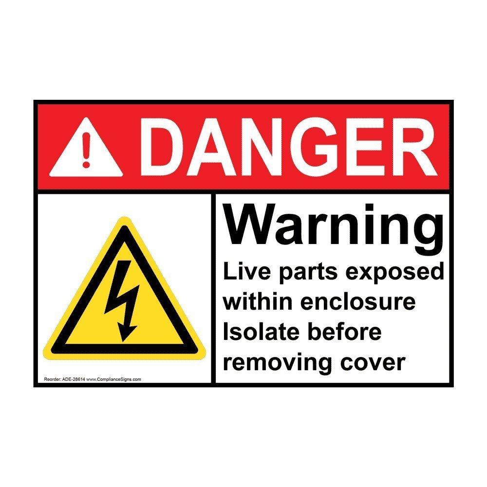 Ansi Danger Electrical Warning Label With Symbol 5x35 In Vinyl 4