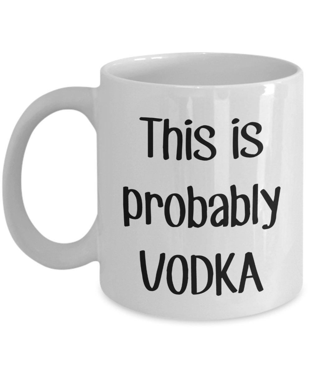 miniature 5 - This is Probably Vodka Travel Mug – Funny Tea Hot Cocoa Coffee Cup - Novelty...