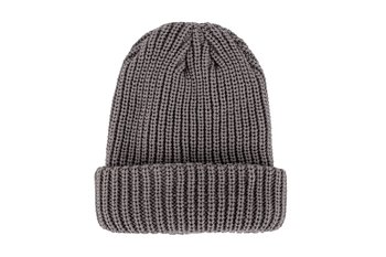 2ee4f872aad24 Heat Logic Men s Beanie Knit Cuff Hat Ultra Thick Acrylic Yarn Black Grey  One Sz