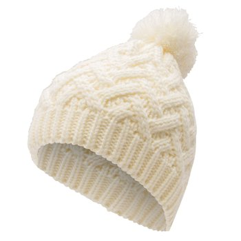 Isaac Mizrahi Twisted  V  Cable Knit Beanie for Women Black Cream Warm  Winter 5176d3f0220a