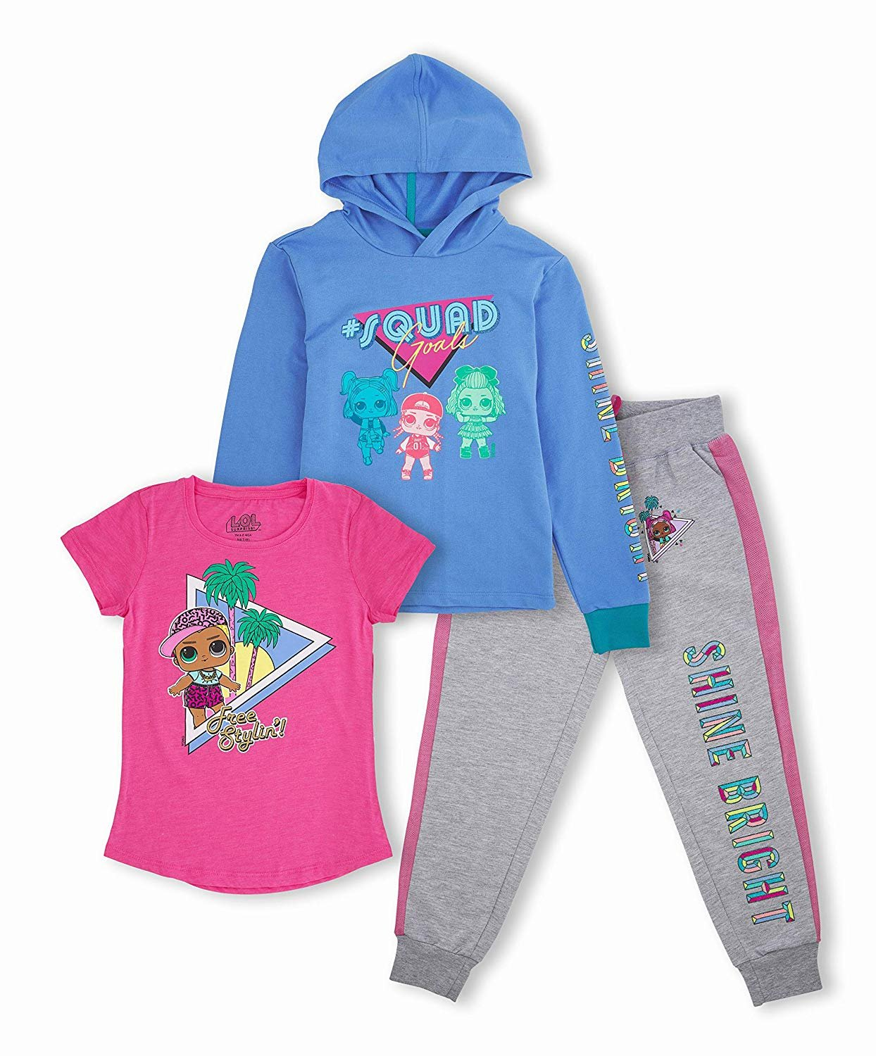 Disney Toddler /& Little Girls/' Minnie Mouse Hoodie and Leggings Outfit Set 2T-6x