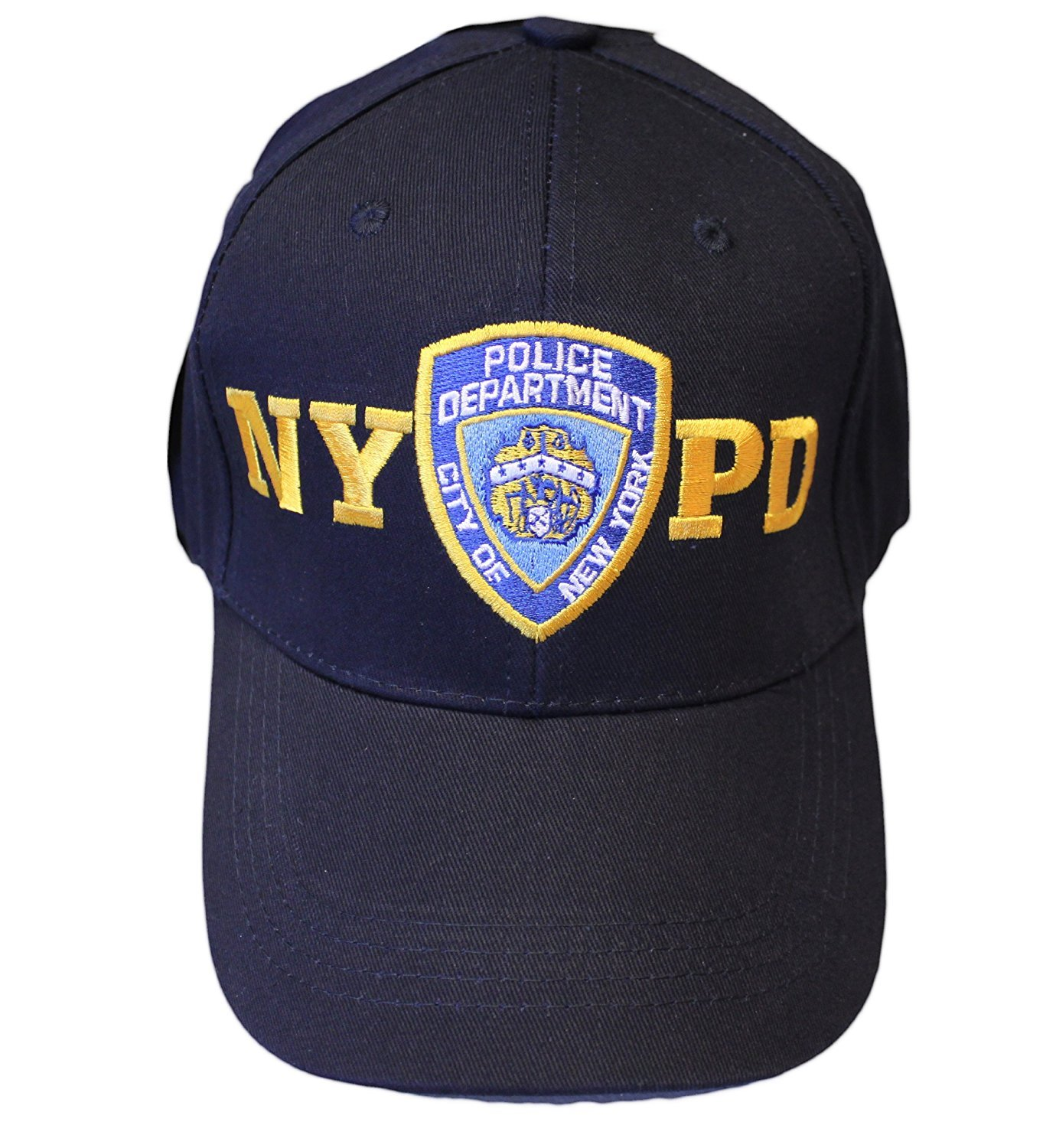 NYPD Baby Infant Screen Printed Bodysuit No Sleeve Navy Yellow