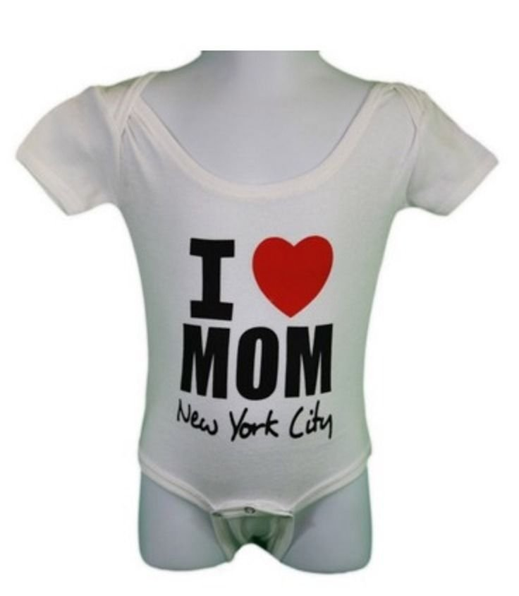 83effa9738c7 I Heart Mom Baby Bodysuit Love New York City White Mothers Day Gift Shirt