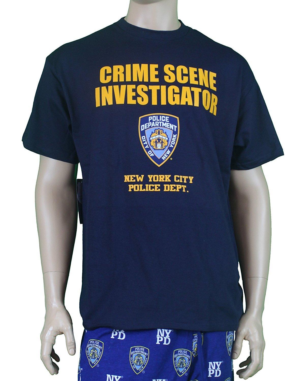 CSI Mens Distressed Logo Ringer T-Shirt