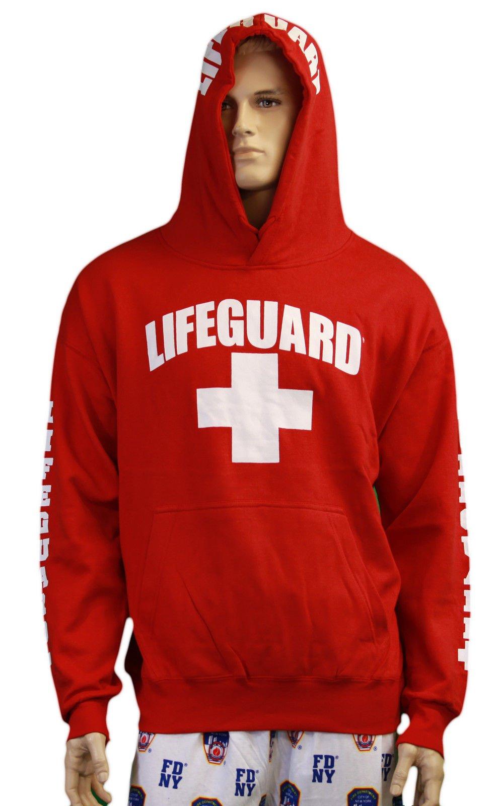 963b59c1b40e Lifeguard life guard adult pullover hoodie sweatshirt adult red jpg  993x1600 Lifeguard sweatshirt myrtle beach