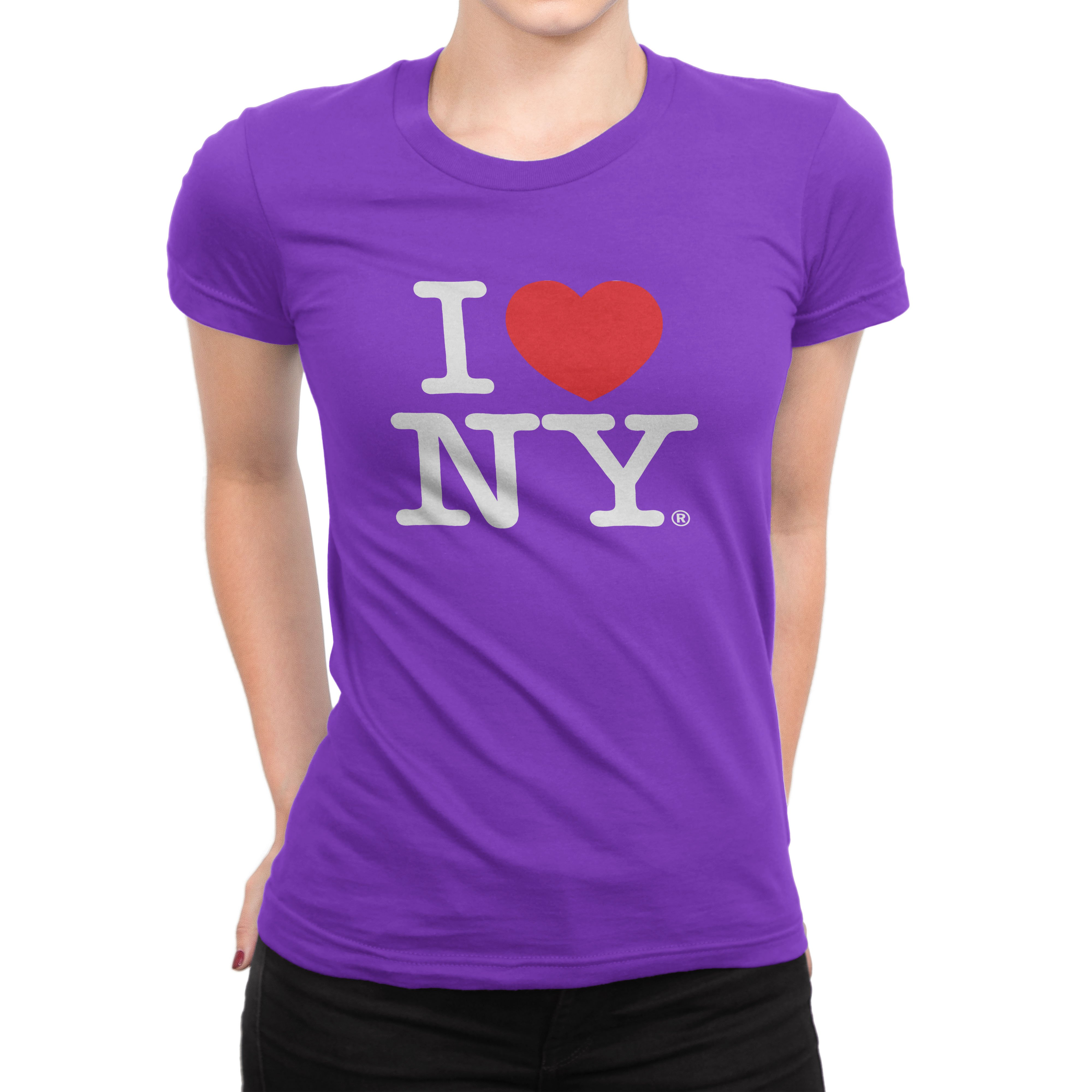 I Heart Love NY New York Ladies Womens Lady Fitted T-Shirt