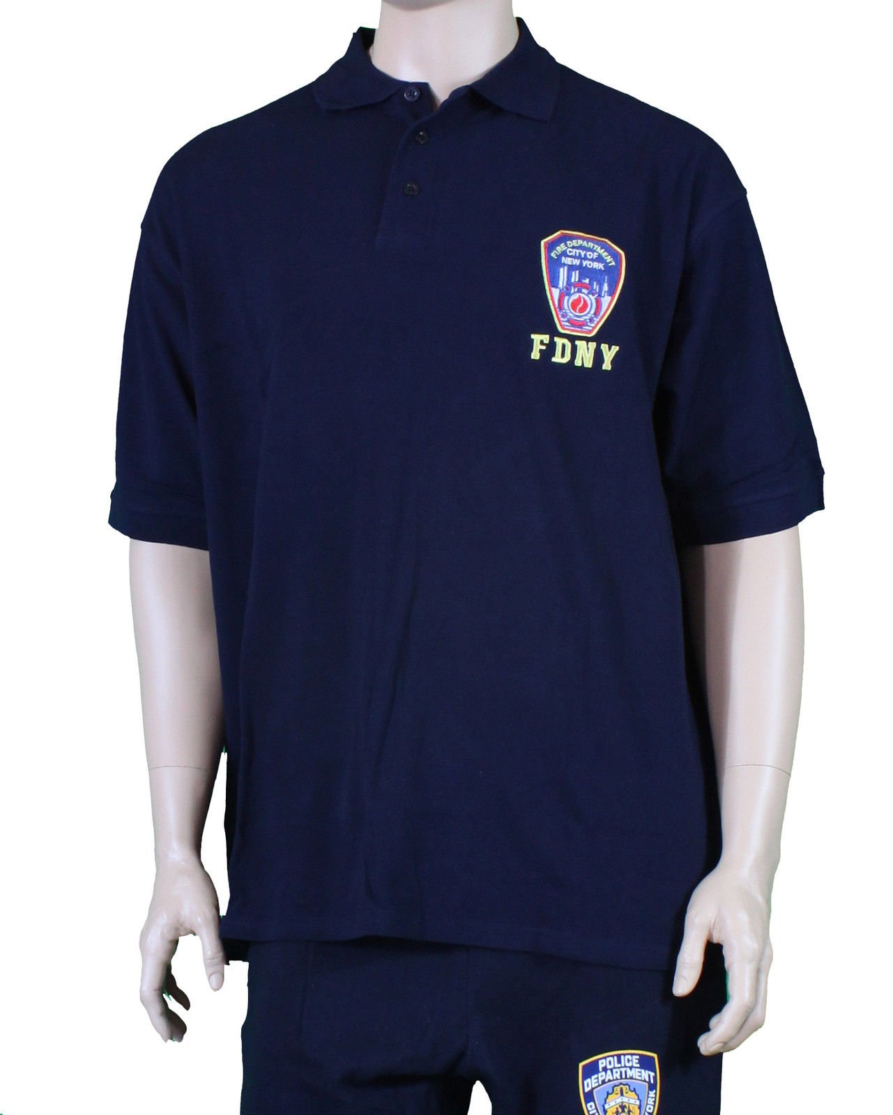 FDNY T-Shirt Polo Officially Licensed by The New York City Fire Department