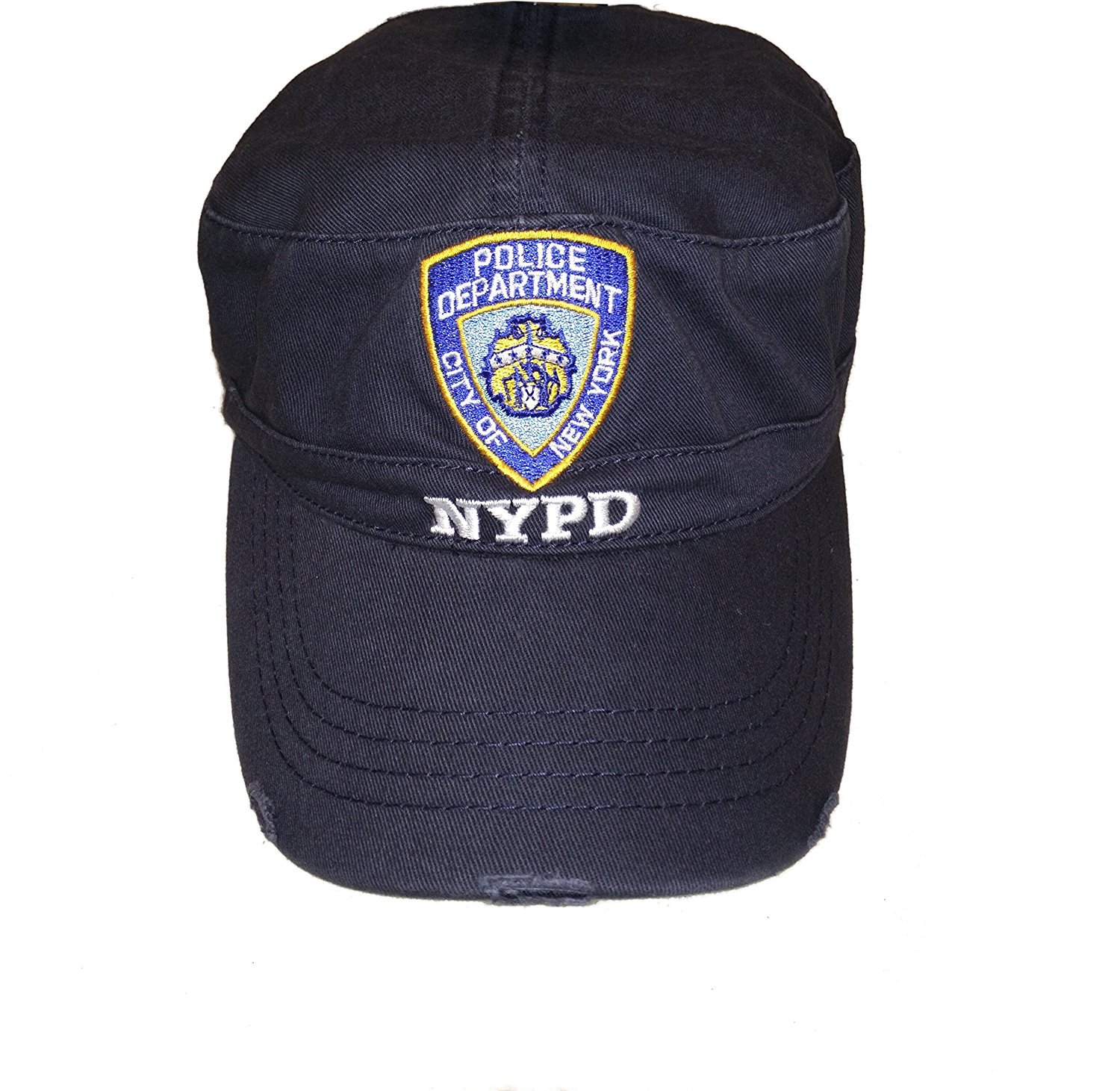 88fc25eb6 Details about NYPD Baseball Hat New York Police Department Distressed Logo  White Letters