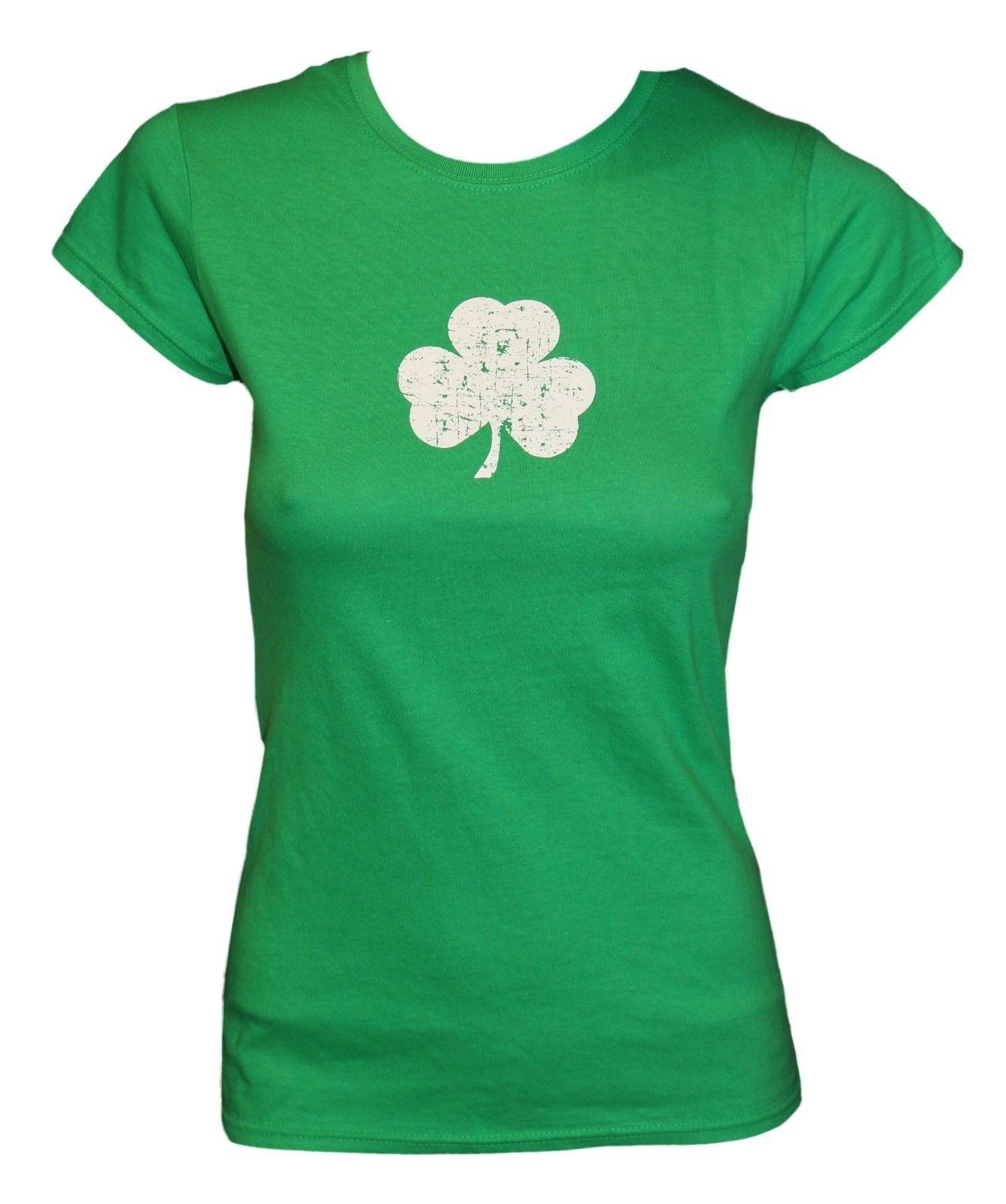 Screen Printed Distressed Shamrock Baby T-Shirt 6m 12m 18m 24m Irish Green Tee