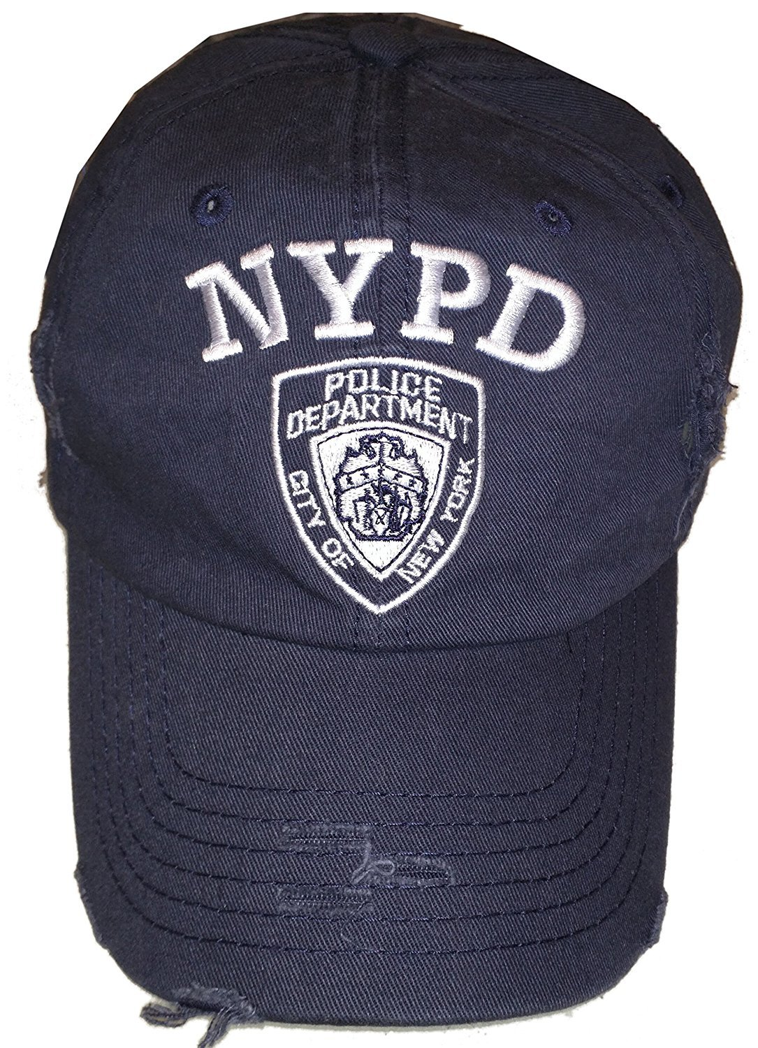 e6fee7709 Details about NYPD Baseball Hat New York Police Department Distressed White  Logo Navy Blue