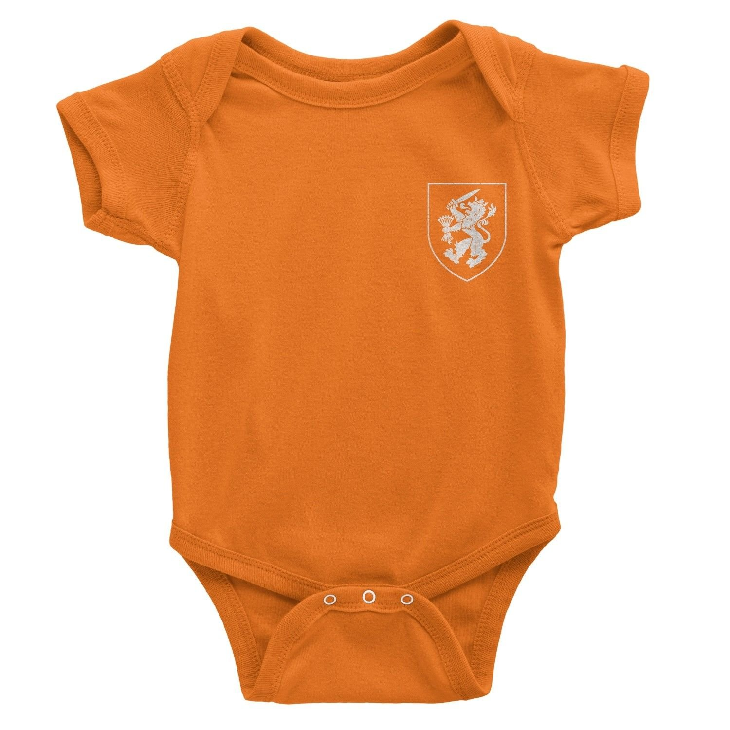 Nyc Factory Netherlands Dutch Soccer Jersey Baby Bodysuit Black Nyc Factory