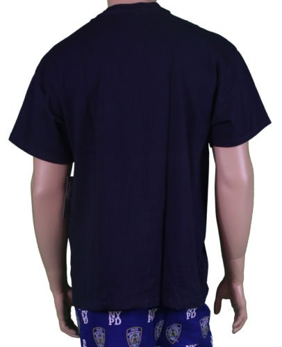 MENS-NYPD-T-SHIRT-EMBROIDERED-LOGO-NAVY-BLUE-OFFICIAL thumbnail 4