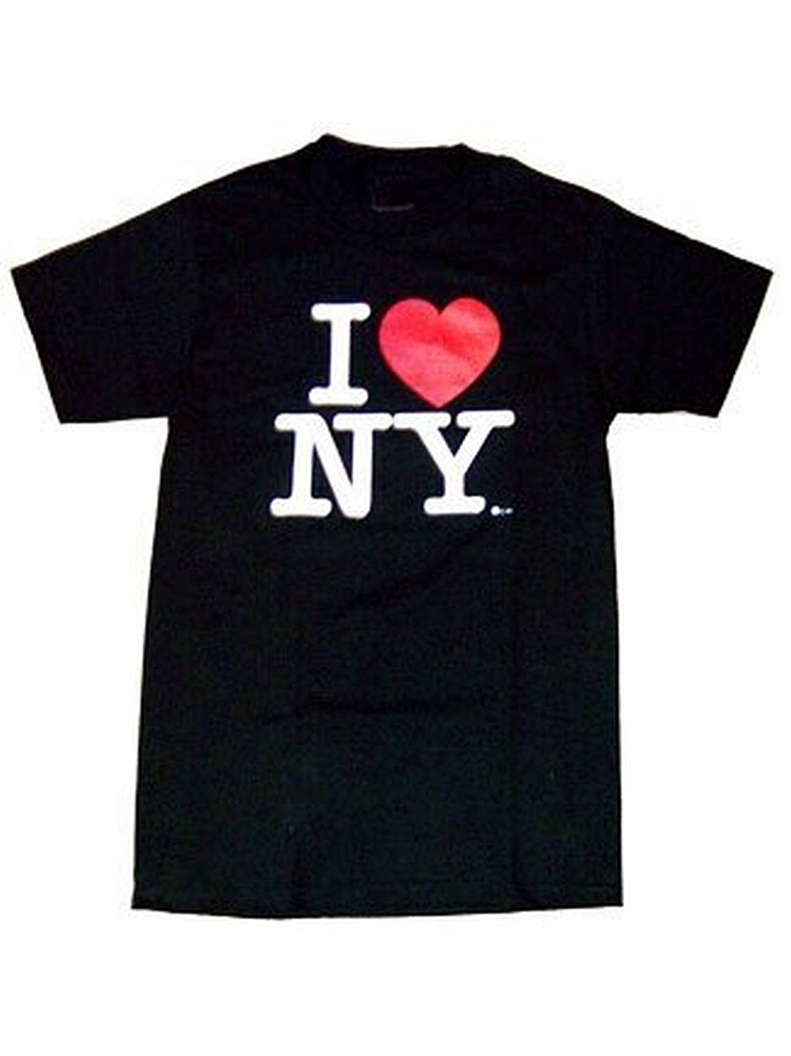 aade421b I Love NY T-Shirt Black 100% Cotton Official Licensed New York Tee NYC  Souvenir