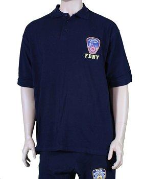 04c92f6b3 MENS FDNY NAVY BLUE POLO SHIRT FIRE DEPT NEW YORK CITY OFFICIAL LICENSED  NYFD