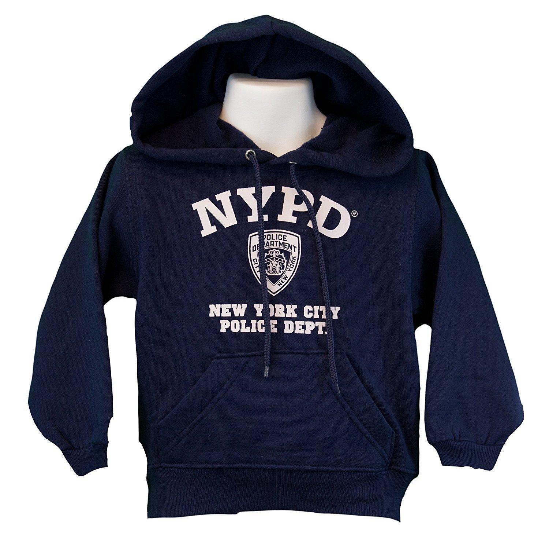 b81257184 NYPD Mens Hoodie White Print Officially Licensed Sweatshirt Navy Blue  Hoodies & Sweatshirts