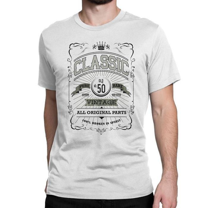Nyc Factory Classic Vintage Mens 50Th T-Shirt Birthday Tee