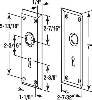 Defender Security E 2295 Vintage Door Escutcheon Trim ...