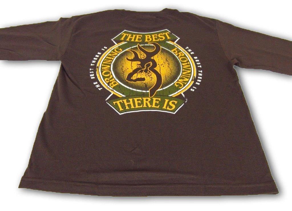 Men/'s Browning Green /& Gold Label Tee Buckmark Short Sleeve T-Shirt Brown XL